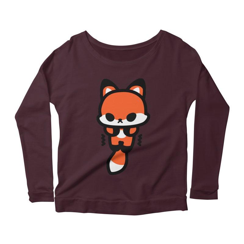 scaredy scaredy fox Women's Scoop Neck Longsleeve T-Shirt by Ziqi - Monster Little