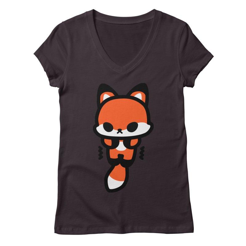 scaredy scaredy fox Women's V-Neck by Ziqi - Monster Little