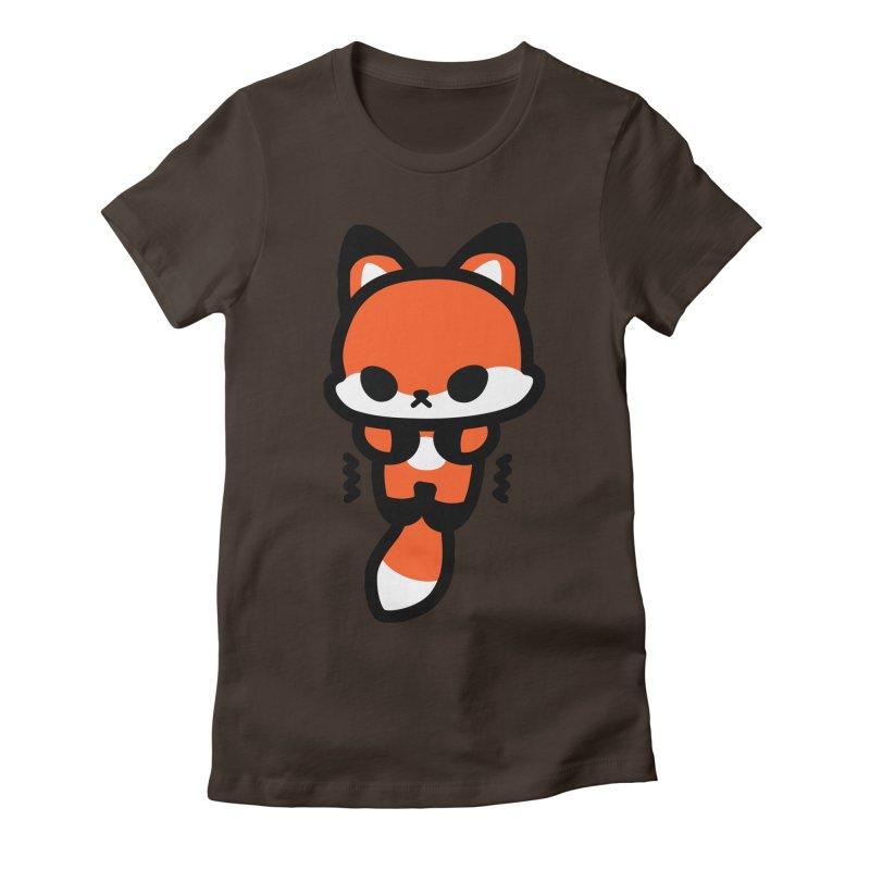 scaredy scaredy fox Women's Fitted T-Shirt by Ziqi - Monster Little