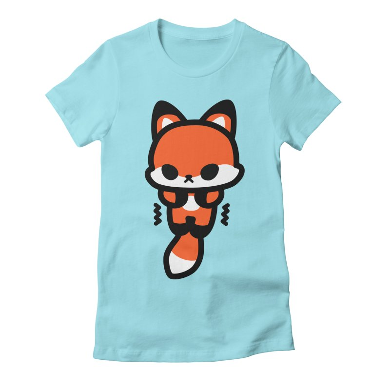 scaredy scaredy fox Women's Fitted T-Shirt by Ziqi - Monster Little