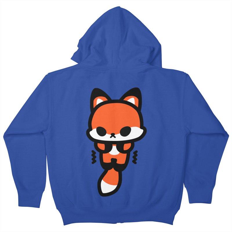scaredy scaredy fox Kids Zip-Up Hoody by Ziqi - Monster Little