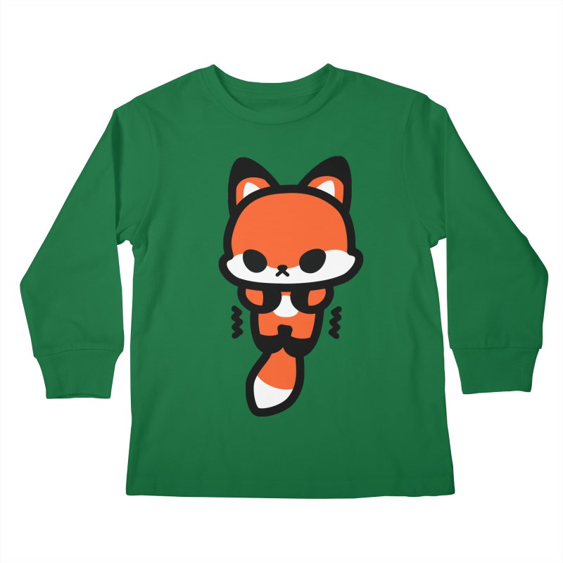 scaredy scaredy fox Kids Longsleeve T-Shirt by Ziqi - Monster Little