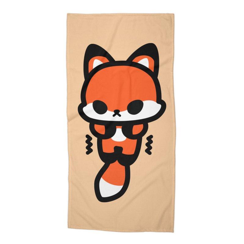 scaredy scaredy fox Accessories Beach Towel by Ziqi - Monster Little
