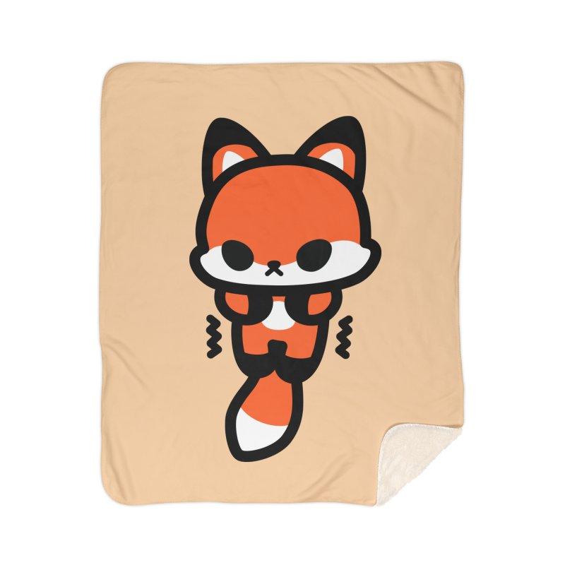 scaredy scaredy fox Home Sherpa Blanket Blanket by Ziqi - Monster Little