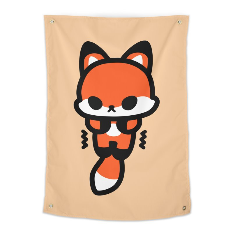 scaredy scaredy fox Home Tapestry by Ziqi - Monster Little