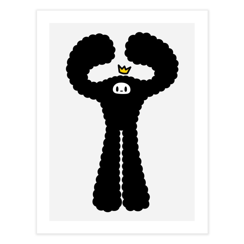 mighty black yeti Home Fine Art Print by Ziqi - Monster Little