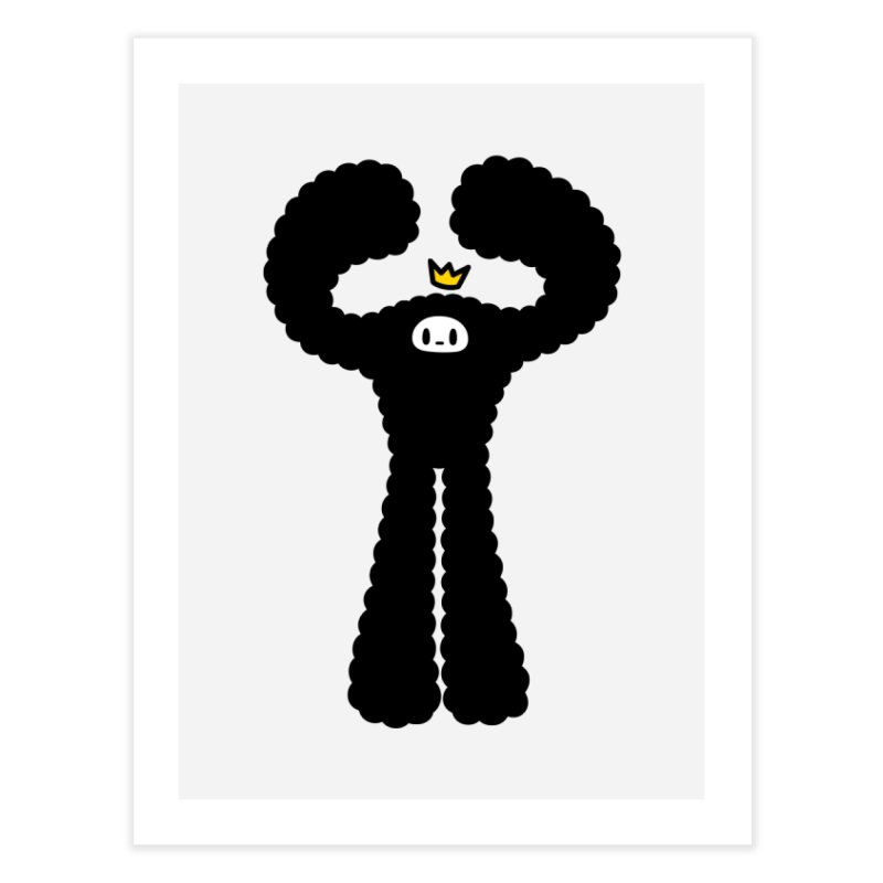 mighty black yeti Home Fine Art Print by Ziqi - Monster Little