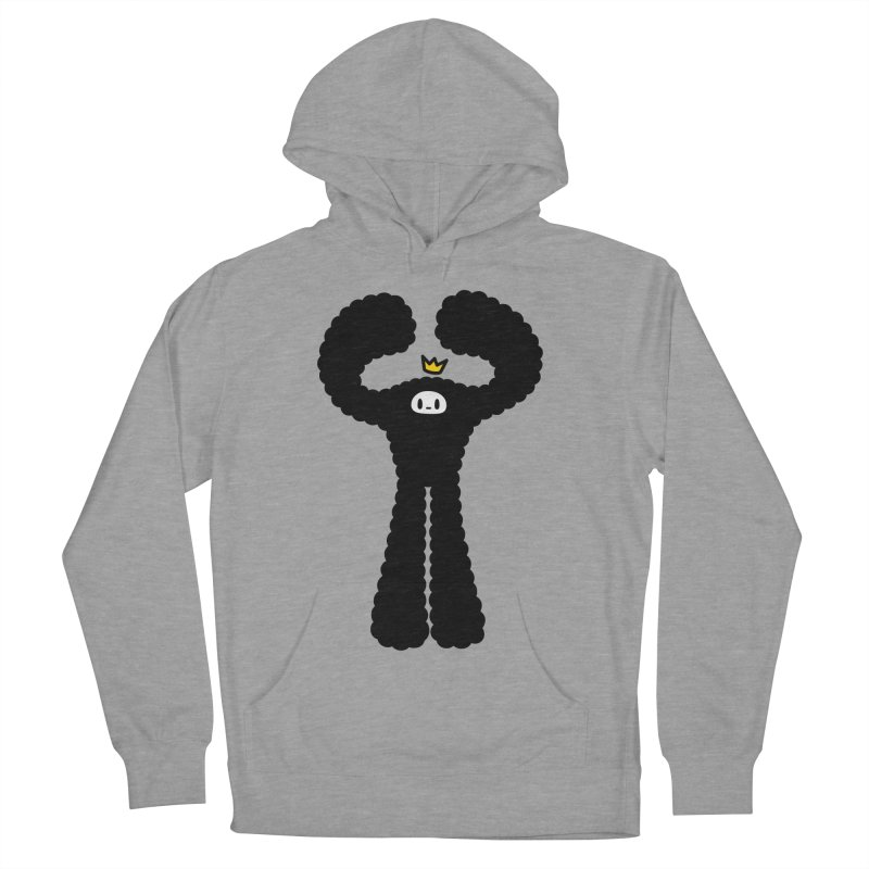 mighty black yeti Women's French Terry Pullover Hoody by Ziqi - Monster Little