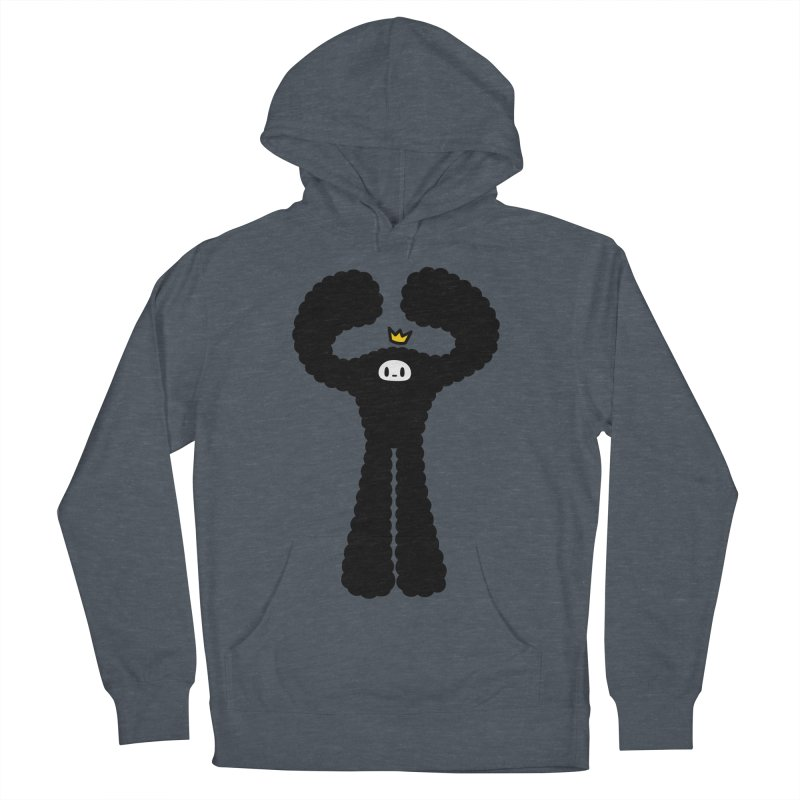 mighty black yeti Men's French Terry Pullover Hoody by Ziqi - Monster Little
