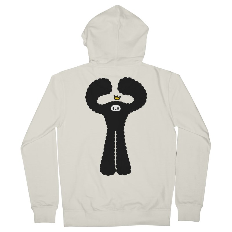 mighty black yeti Men's French Terry Zip-Up Hoody by Ziqi - Monster Little