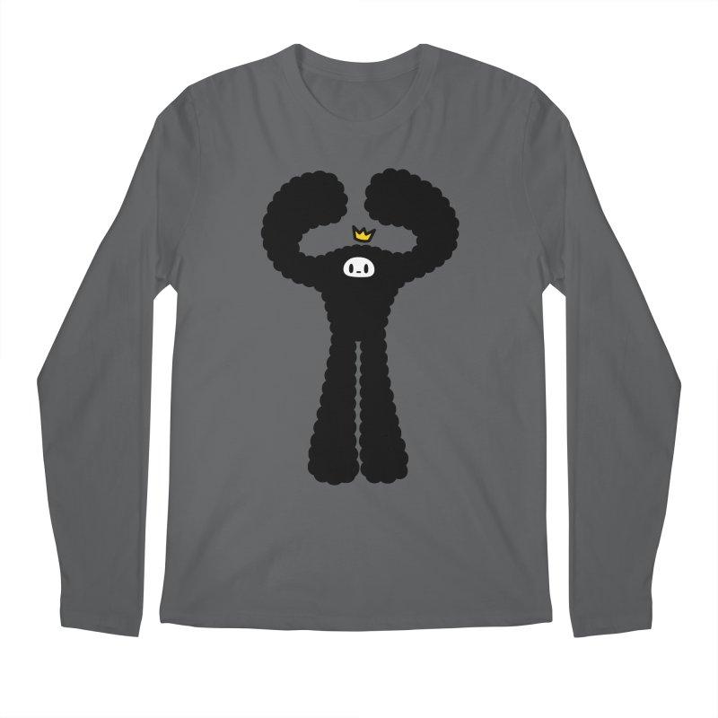 mighty black yeti Men's Longsleeve T-Shirt by Ziqi - Monster Little