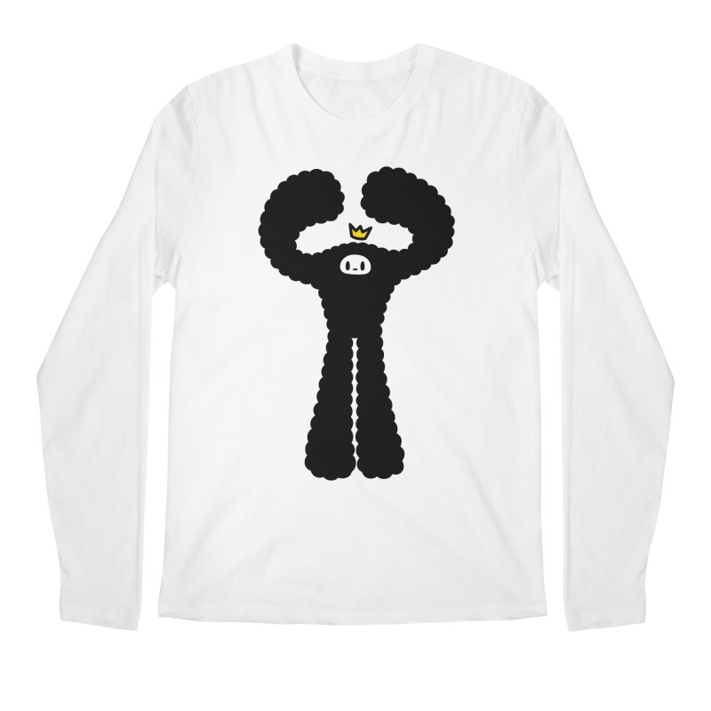 mighty black yeti Men's Longsleeve T-Shirt by Ziqi - Monster Little