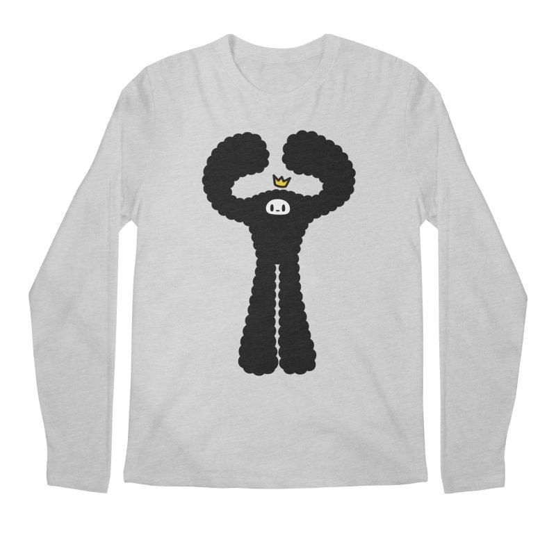 mighty black yeti Men's Regular Longsleeve T-Shirt by Ziqi - Monster Little