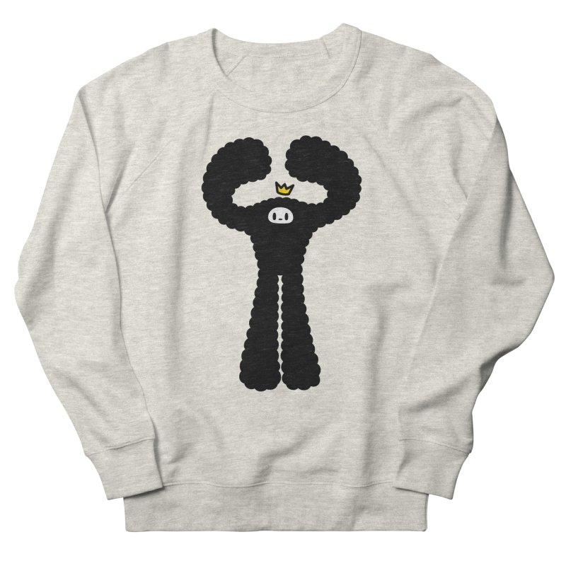 mighty black yeti Men's French Terry Sweatshirt by Ziqi - Monster Little