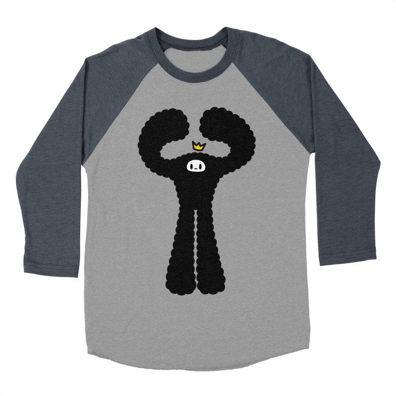 mighty black yeti Women's Baseball Triblend Longsleeve T-Shirt by Ziqi - Monster Little