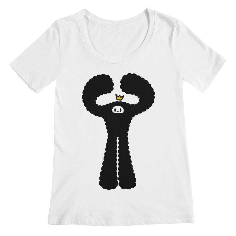 mighty black yeti Women's Regular Scoop Neck by Ziqi - Monster Little