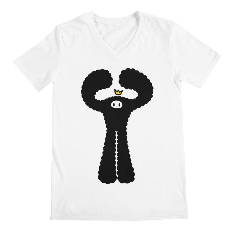 mighty black yeti Men's V-Neck by Ziqi - Monster Little