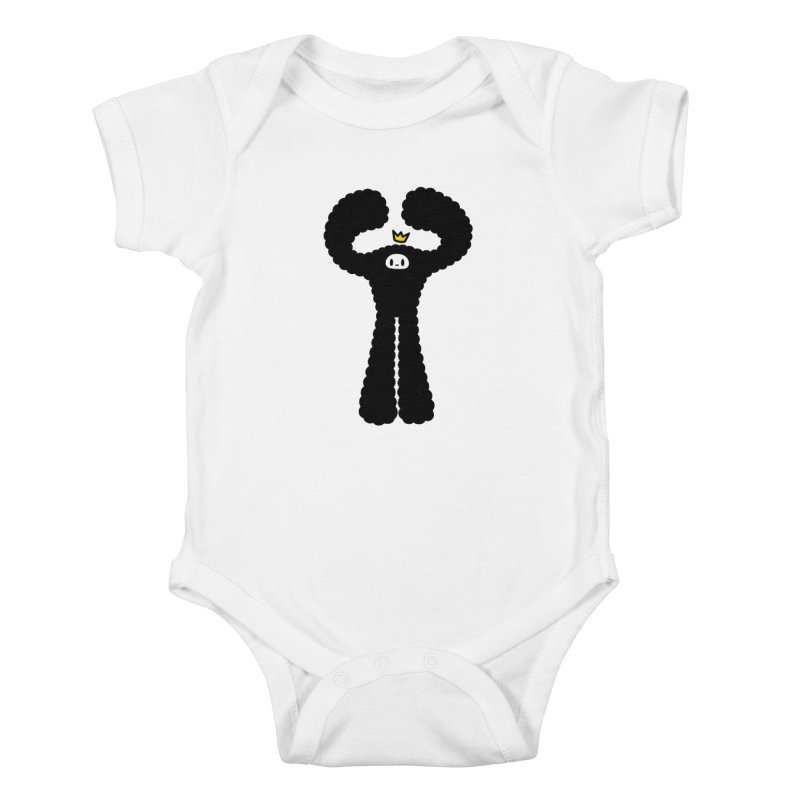 mighty black yeti Kids Baby Bodysuit by Ziqi - Monster Little