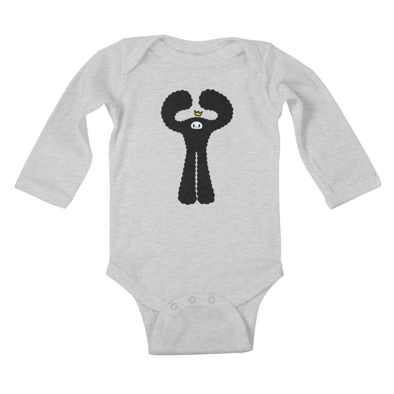 mighty black yeti Kids Baby Longsleeve Bodysuit by Ziqi - Monster Little