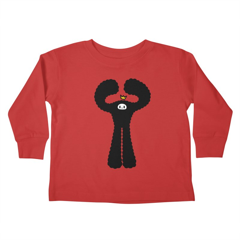 mighty black yeti Kids Toddler Longsleeve T-Shirt by Ziqi - Monster Little