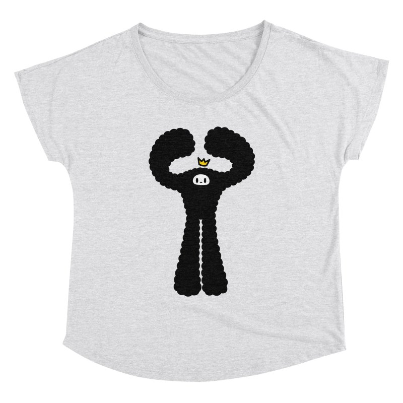 mighty black yeti Women's Dolman Scoop Neck by Ziqi - Monster Little