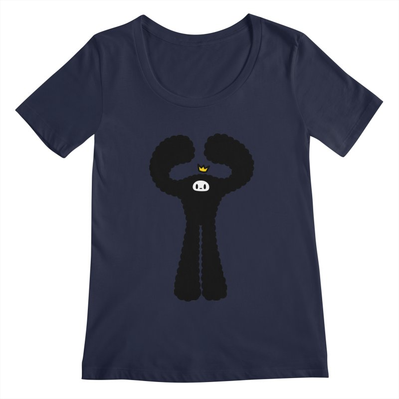 mighty black yeti Women's Scoopneck by Ziqi - Monster Little