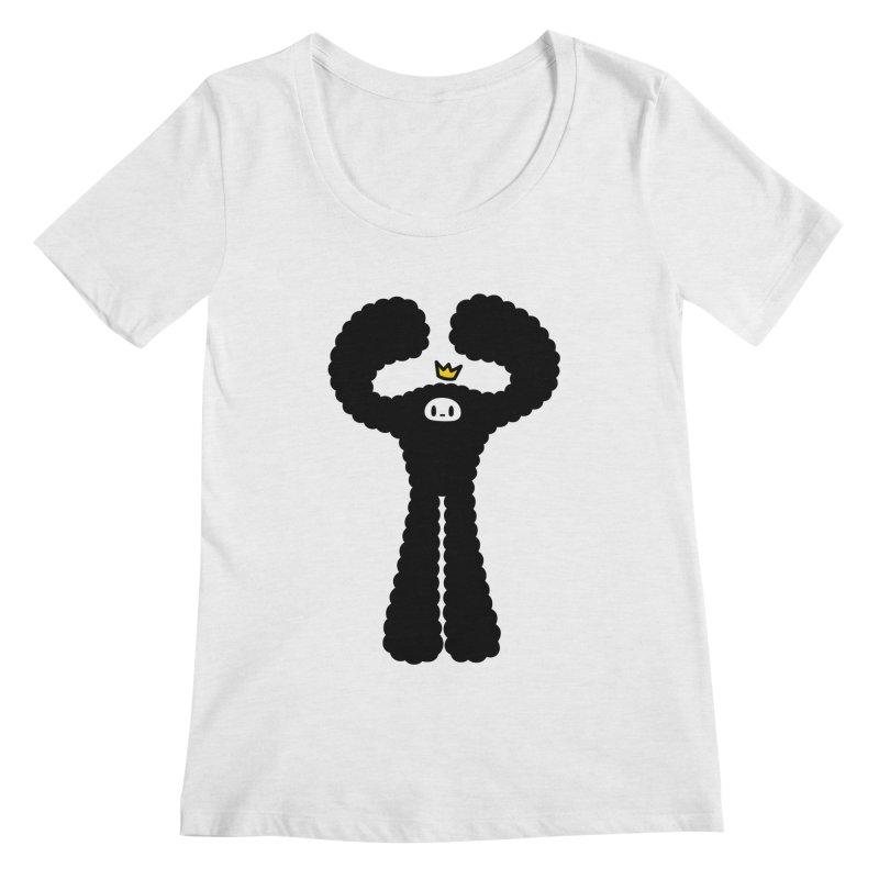 mighty black yeti Women's Scoopneck by Ziqi - Monster Little