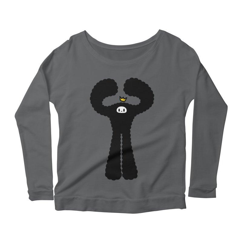 mighty black yeti Women's Scoop Neck Longsleeve T-Shirt by Ziqi - Monster Little