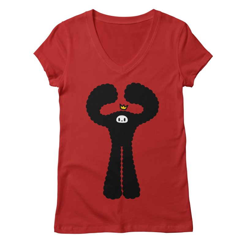 mighty black yeti Women's V-Neck by Ziqi - Monster Little