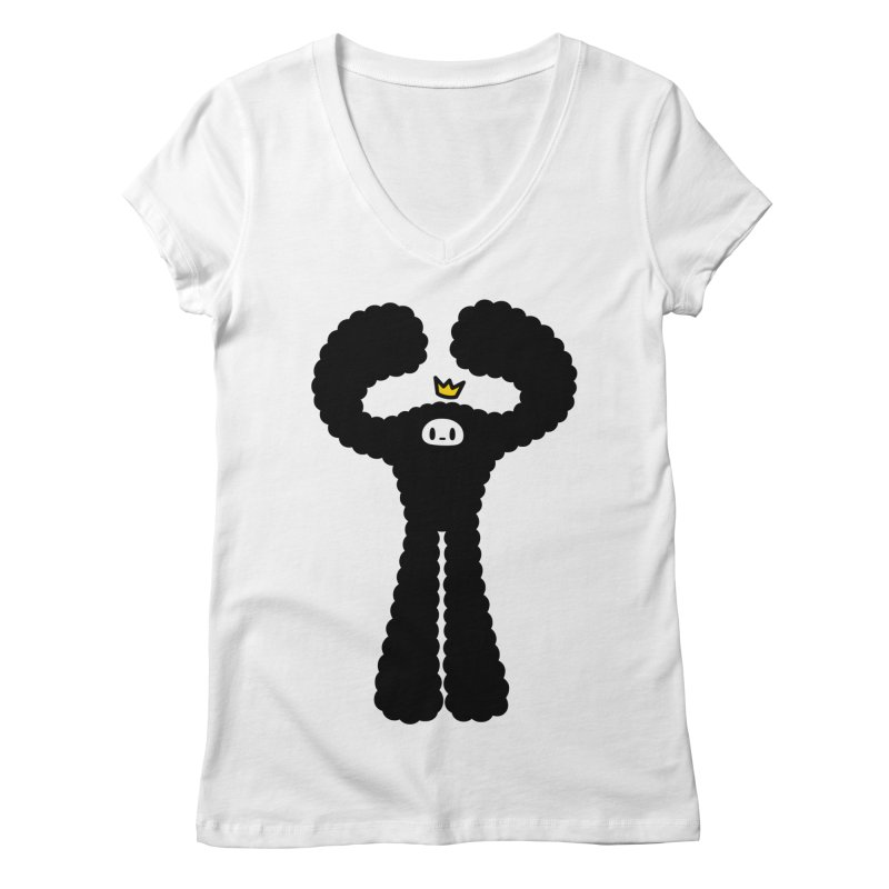 mighty black yeti Women's Regular V-Neck by Ziqi - Monster Little