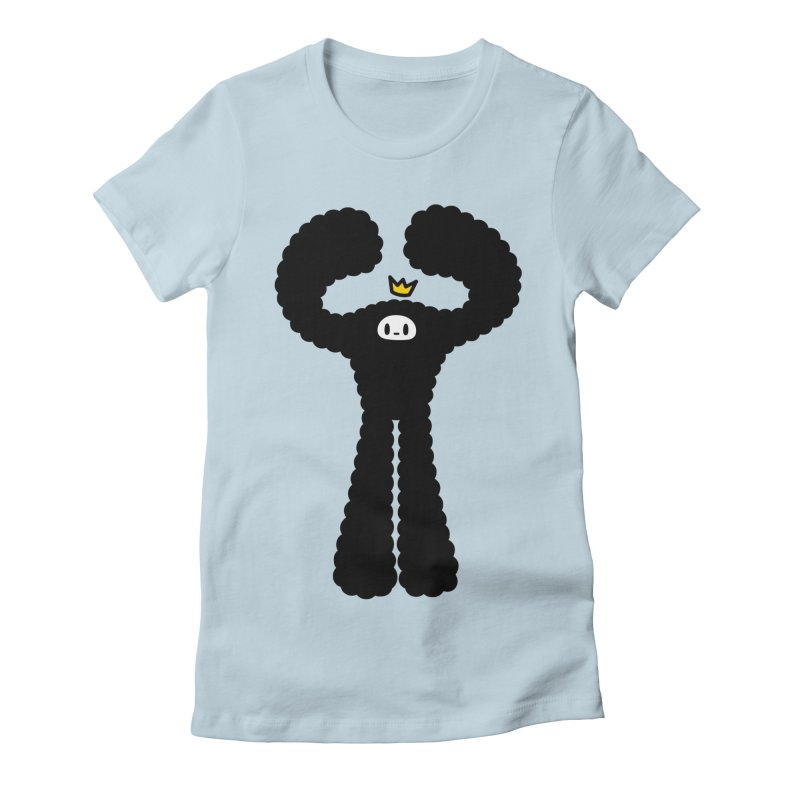 mighty black yeti Women's Fitted T-Shirt by Ziqi - Monster Little