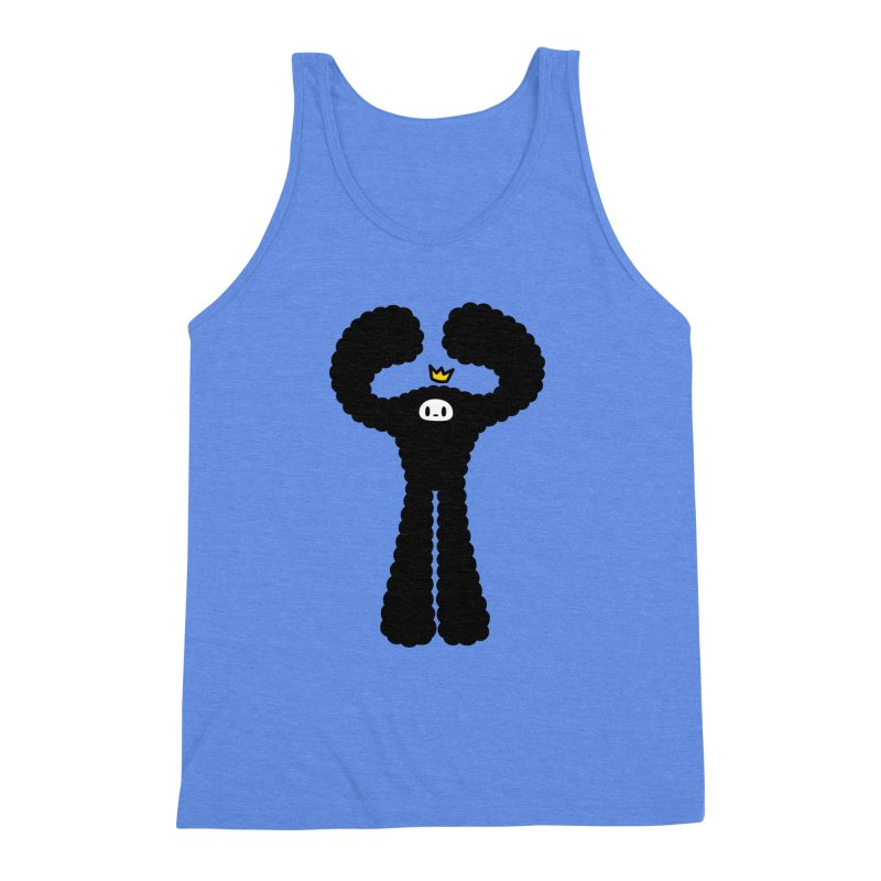mighty black yeti Men's Triblend Tank by Ziqi - Monster Little