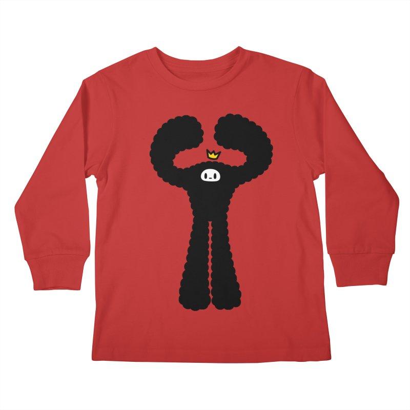 mighty black yeti Kids Longsleeve T-Shirt by Ziqi - Monster Little