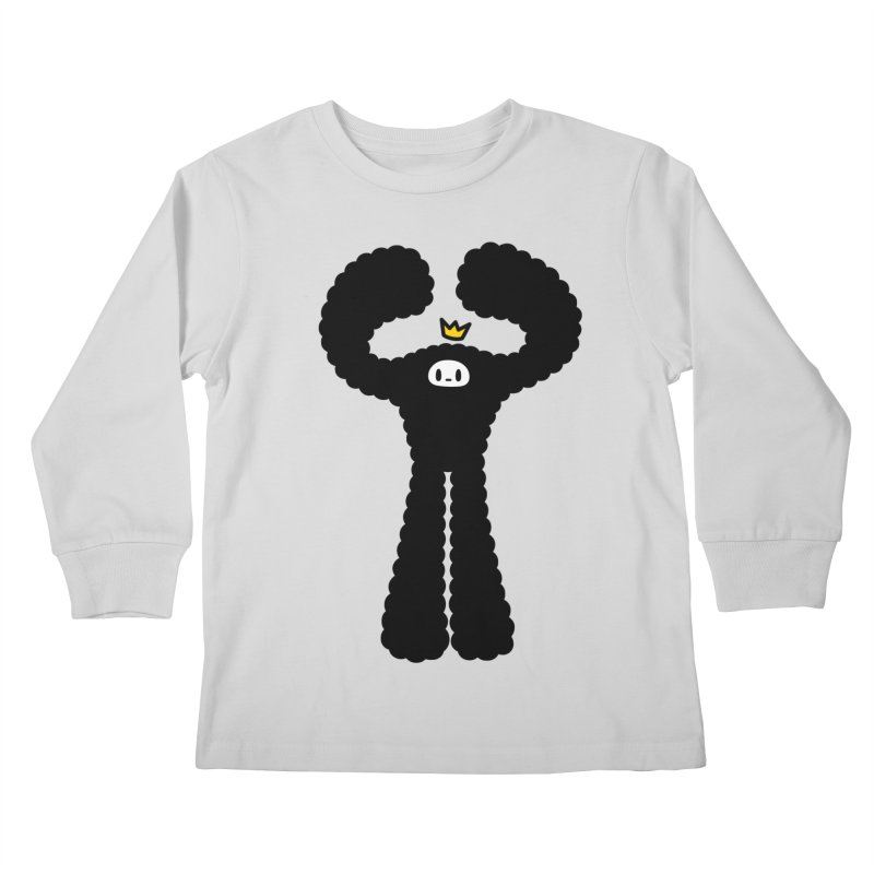 mighty black yeti Kids Longsleeve T-Shirt by Ziqi - Monster Little