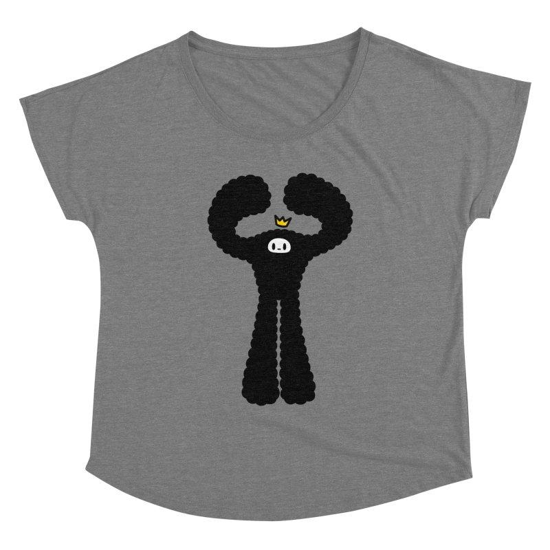 mighty black yeti Women's Scoop Neck by Ziqi - Monster Little