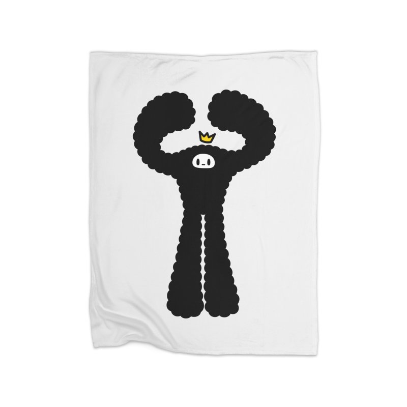 mighty black yeti Home Fleece Blanket Blanket by Ziqi - Monster Little