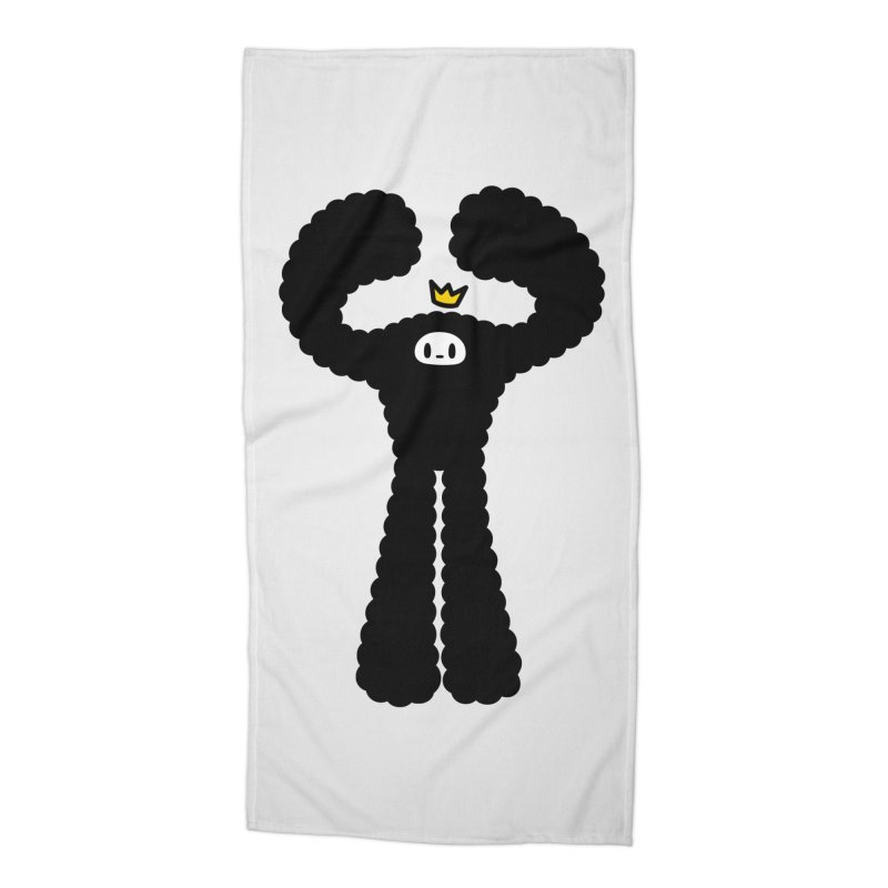 mighty black yeti Accessories Beach Towel by Ziqi - Monster Little