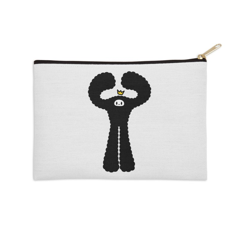 mighty black yeti Accessories Zip Pouch by Ziqi - Monster Little