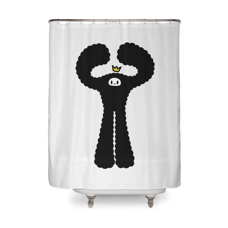 mighty black yeti Home Shower Curtain by Ziqi - Monster Little