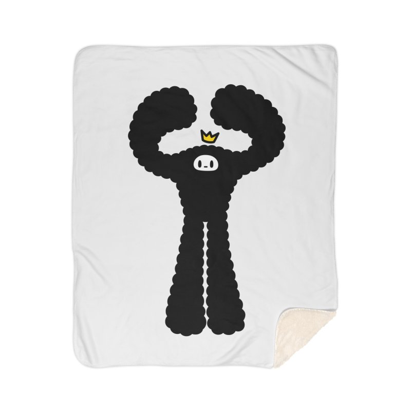 mighty black yeti Home Sherpa Blanket Blanket by Ziqi - Monster Little