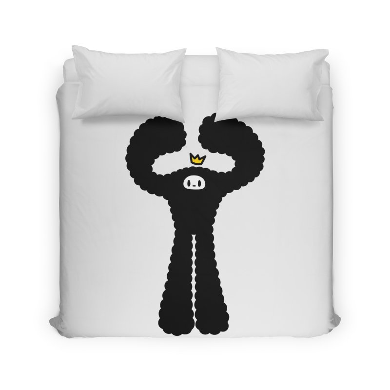 mighty black yeti Home Duvet by Ziqi - Monster Little