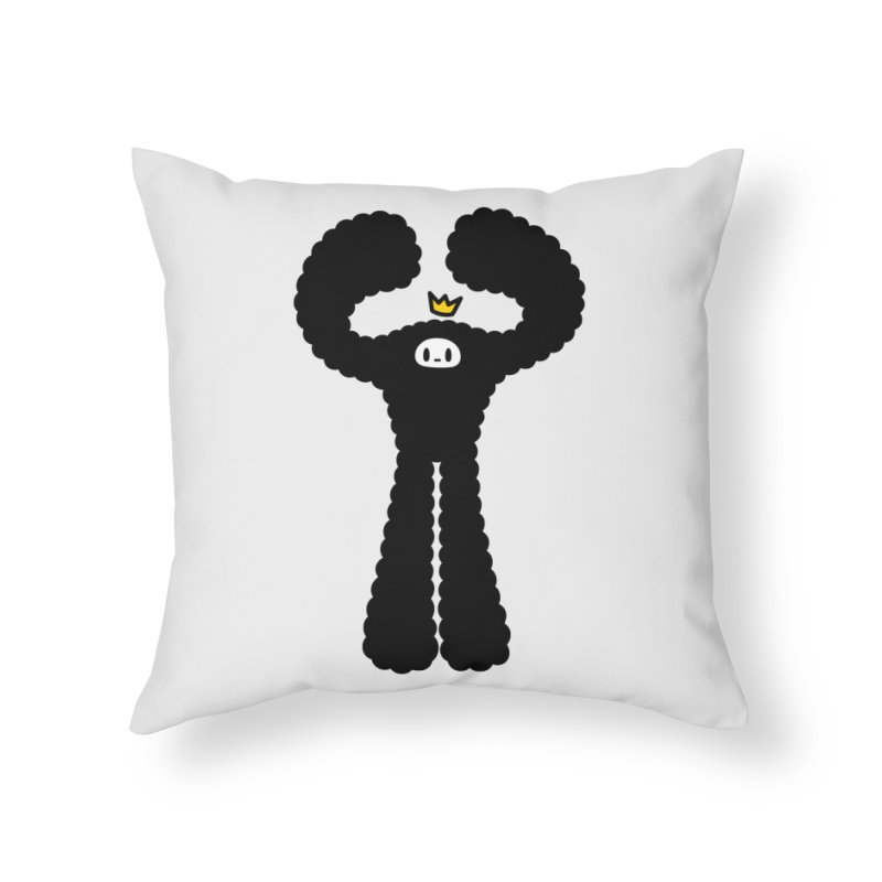 mighty black yeti Home Throw Pillow by Ziqi - Monster Little