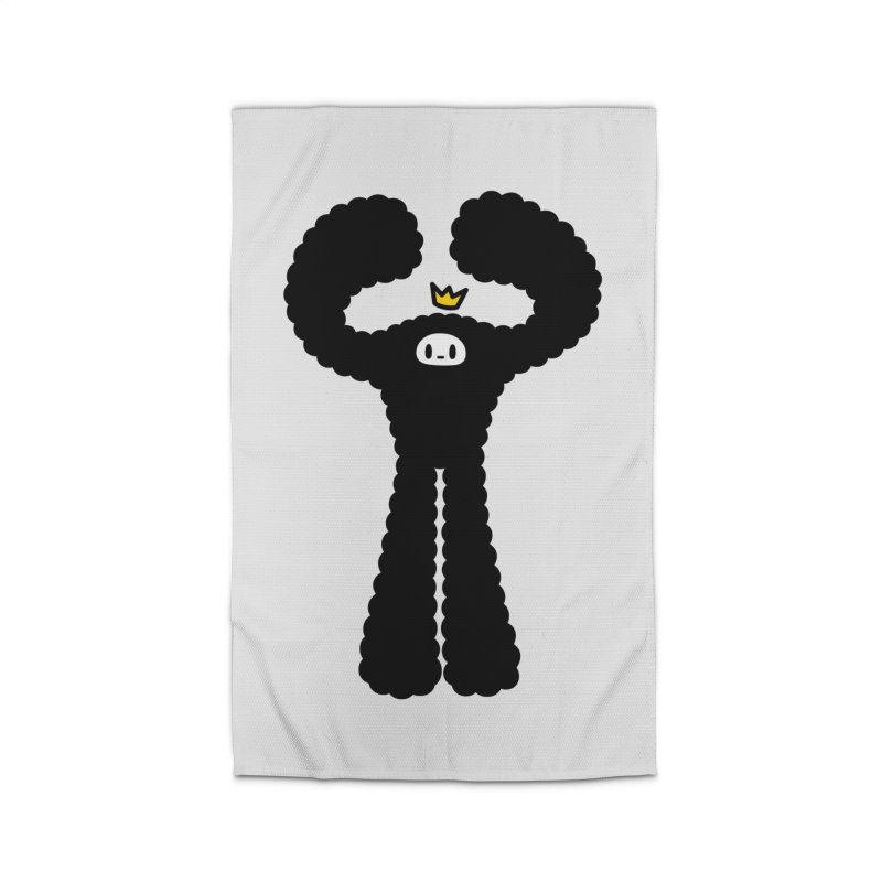 mighty black yeti Home Rug by Ziqi - Monster Little