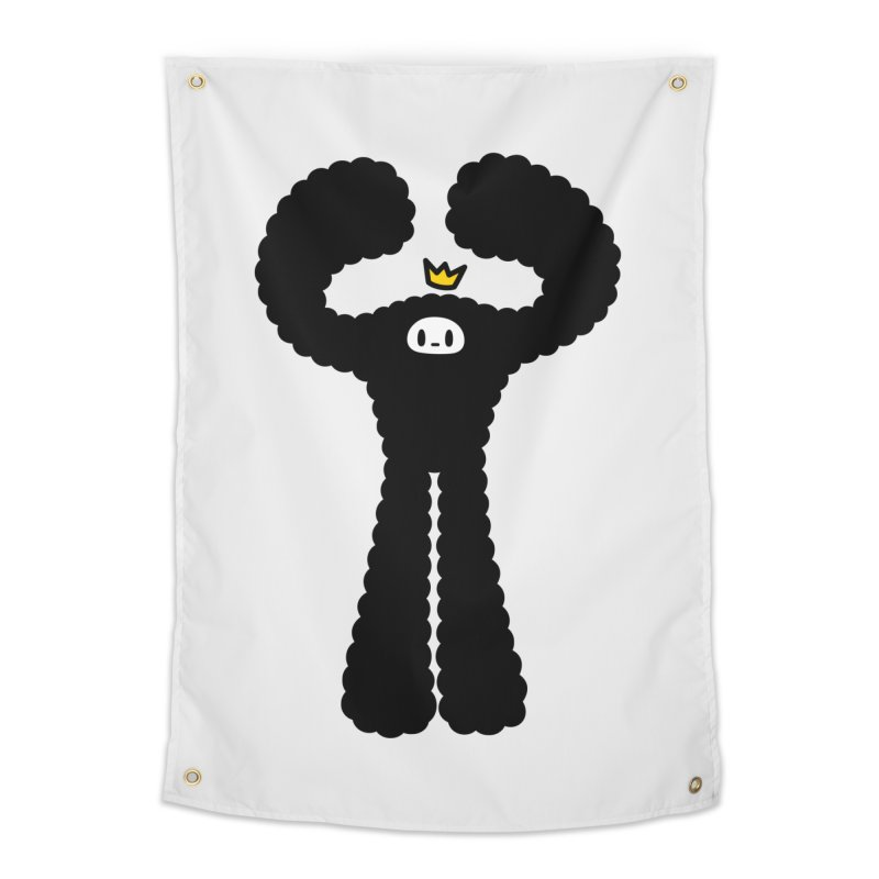 mighty black yeti Home Tapestry by Ziqi - Monster Little