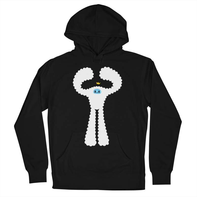 mighty white yeti Men's French Terry Pullover Hoody by Ziqi - Monster Little
