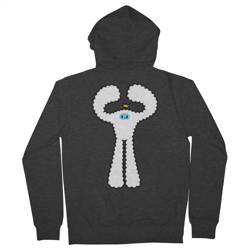 mighty white yeti Men's French Terry Zip-Up Hoody by Ziqi - Monster Little