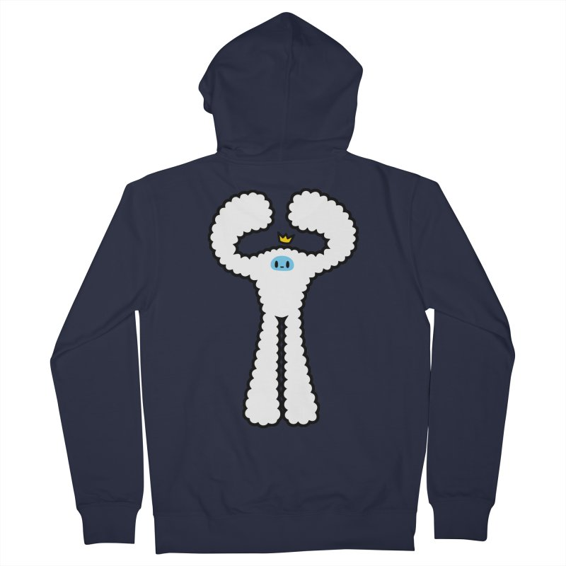 mighty white yeti Men's Zip-Up Hoody by Ziqi - Monster Little