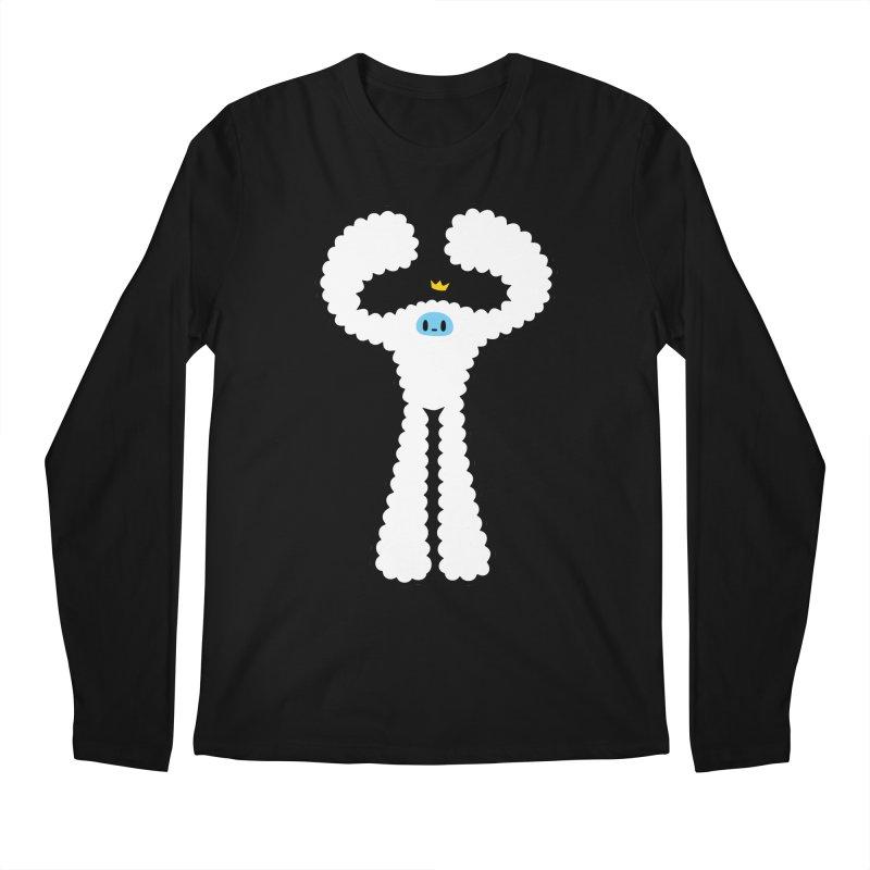 mighty white yeti Men's Regular Longsleeve T-Shirt by Ziqi - Monster Little