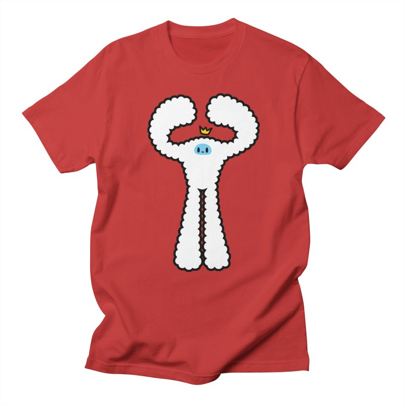 mighty white yeti Men's Regular T-Shirt by Ziqi - Monster Little