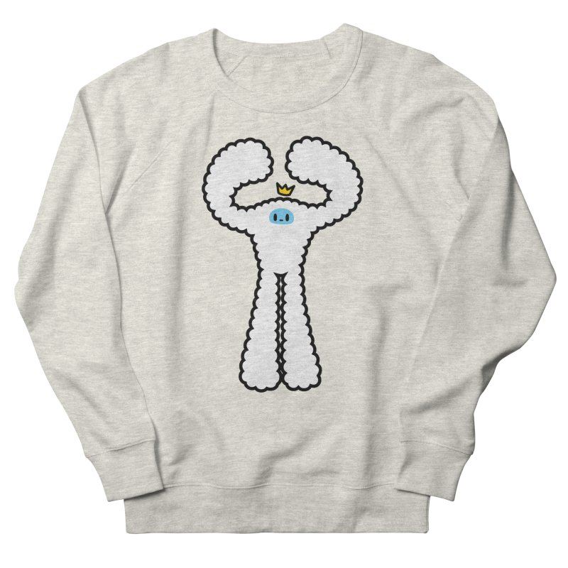 mighty white yeti Men's French Terry Sweatshirt by Ziqi - Monster Little